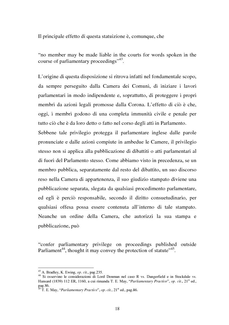 Anteprima della tesi: Le immunità parlamentari nei paesi dell'Unione Europea, Pagina 15