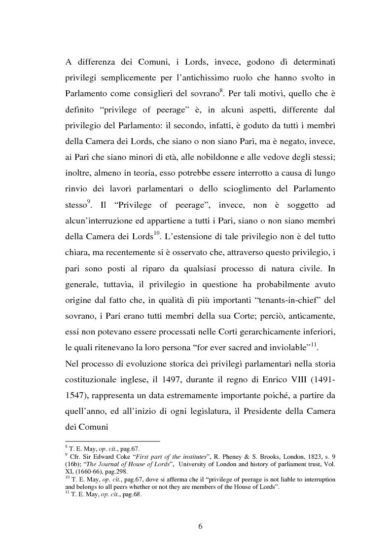 Anteprima della tesi: Le immunità parlamentari nei paesi dell'Unione Europea, Pagina 3