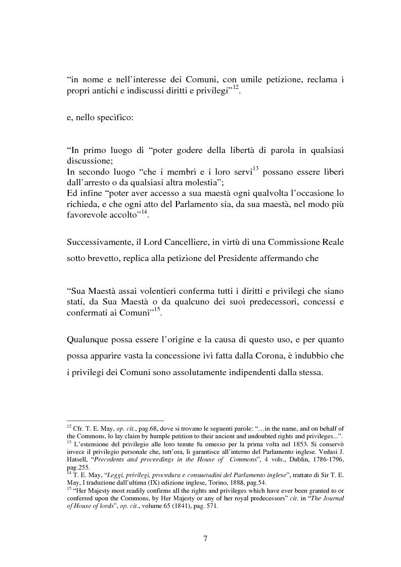 Anteprima della tesi: Le immunità parlamentari nei paesi dell'Unione Europea, Pagina 4