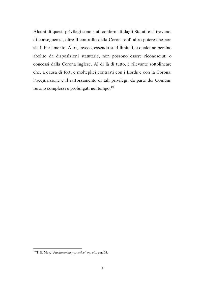 Anteprima della tesi: Le immunità parlamentari nei paesi dell'Unione Europea, Pagina 5
