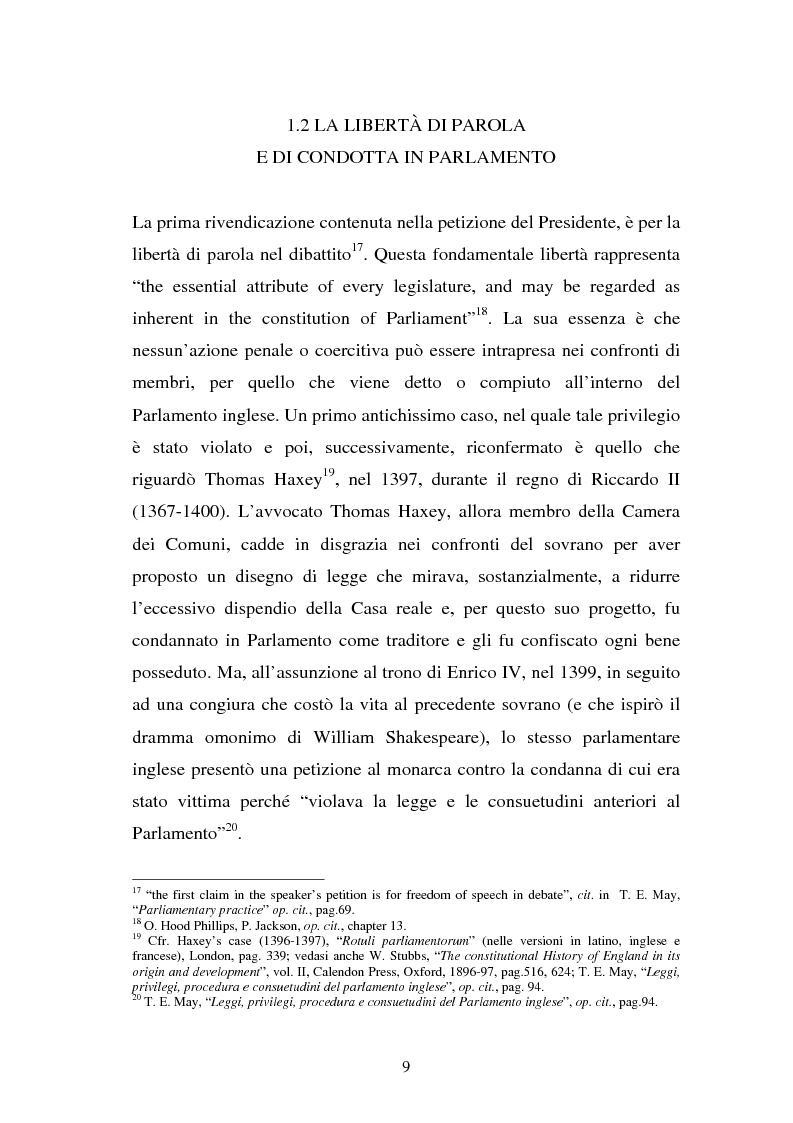 Anteprima della tesi: Le immunità parlamentari nei paesi dell'Unione Europea, Pagina 6