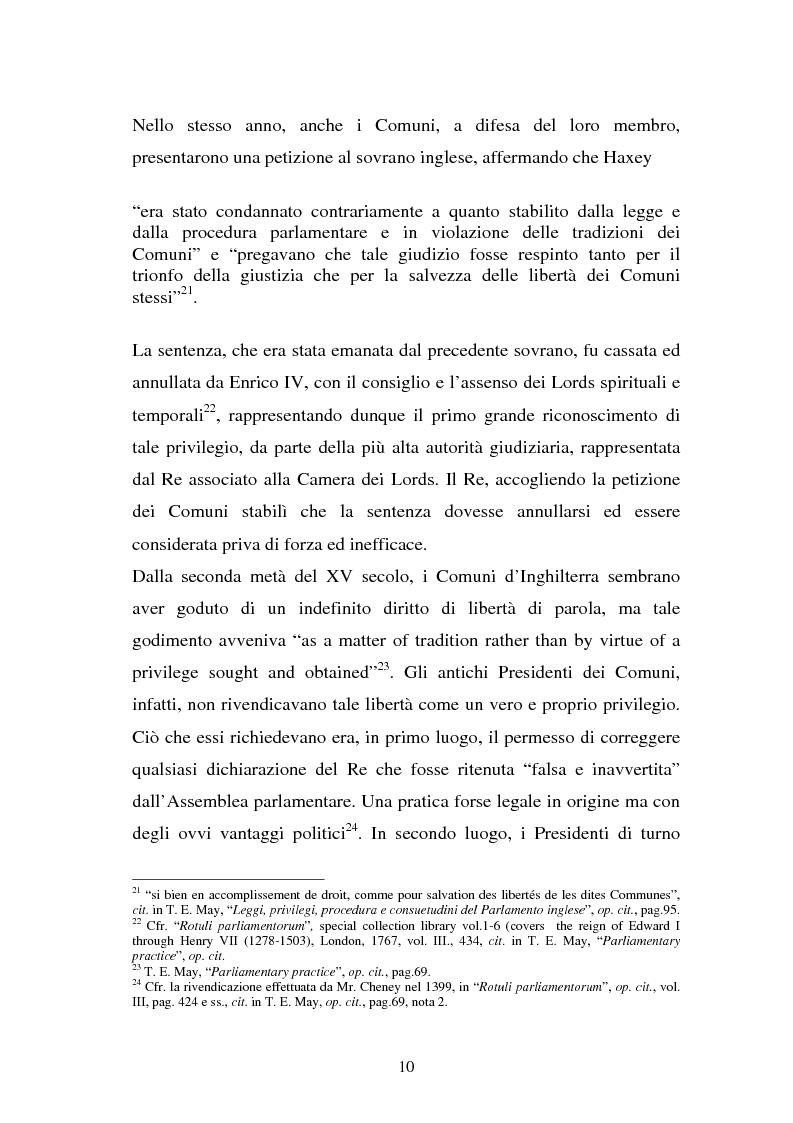 Anteprima della tesi: Le immunità parlamentari nei paesi dell'Unione Europea, Pagina 7