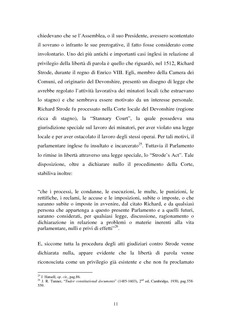 Anteprima della tesi: Le immunità parlamentari nei paesi dell'Unione Europea, Pagina 8