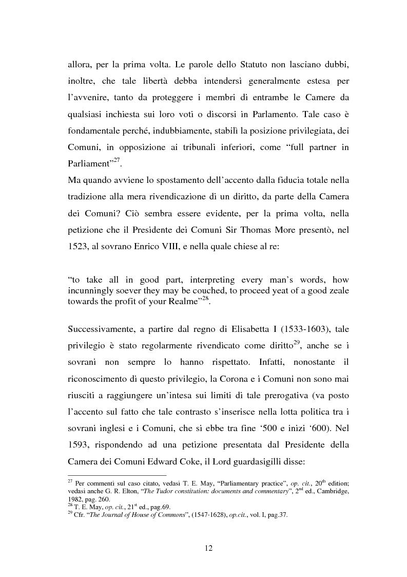 Anteprima della tesi: Le immunità parlamentari nei paesi dell'Unione Europea, Pagina 9