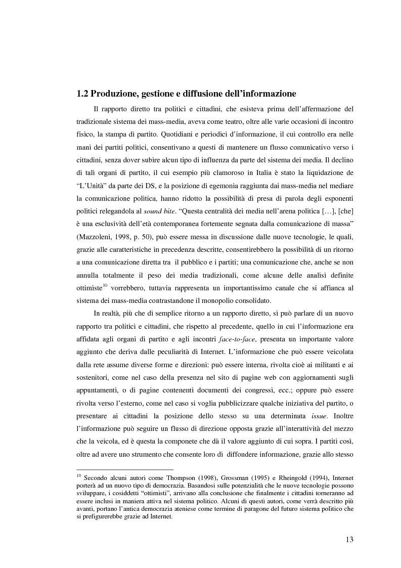 Anteprima della tesi: I giovani di sinistra online, Pagina 10
