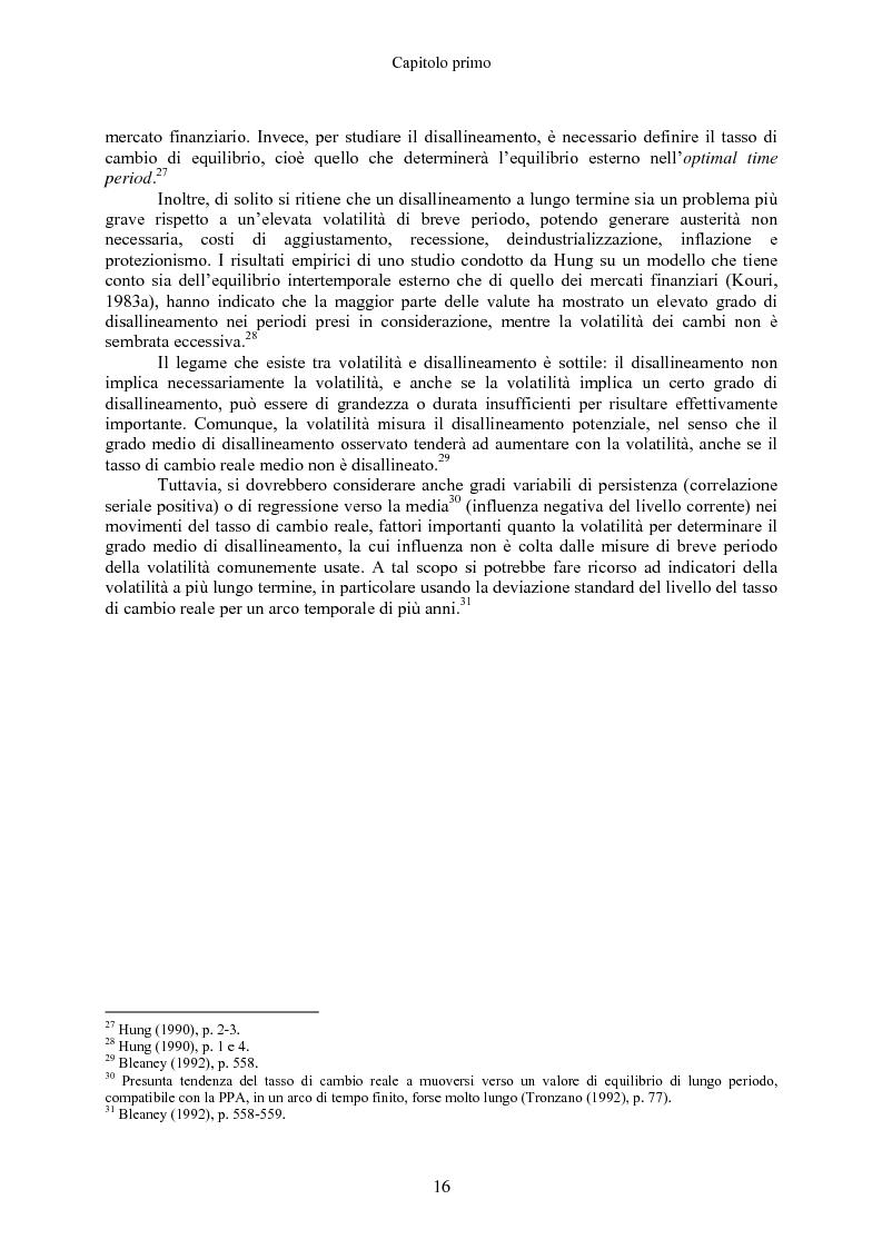 Anteprima della tesi: Volatilità dei tassi di cambio e regolamentazione dei movimenti internazionali di capitali, Pagina 11