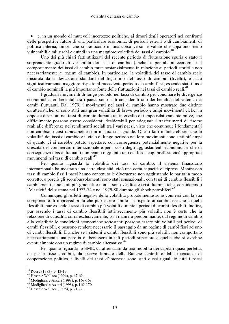 Anteprima della tesi: Volatilità dei tassi di cambio e regolamentazione dei movimenti internazionali di capitali, Pagina 14