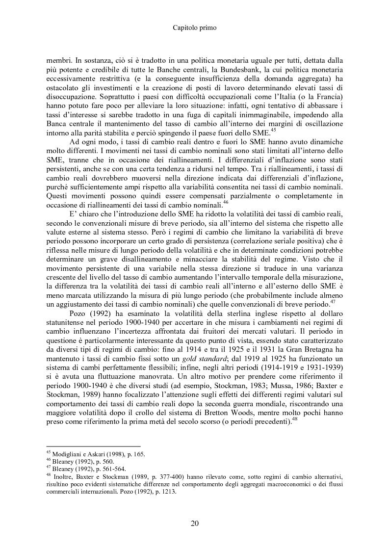Anteprima della tesi: Volatilità dei tassi di cambio e regolamentazione dei movimenti internazionali di capitali, Pagina 15