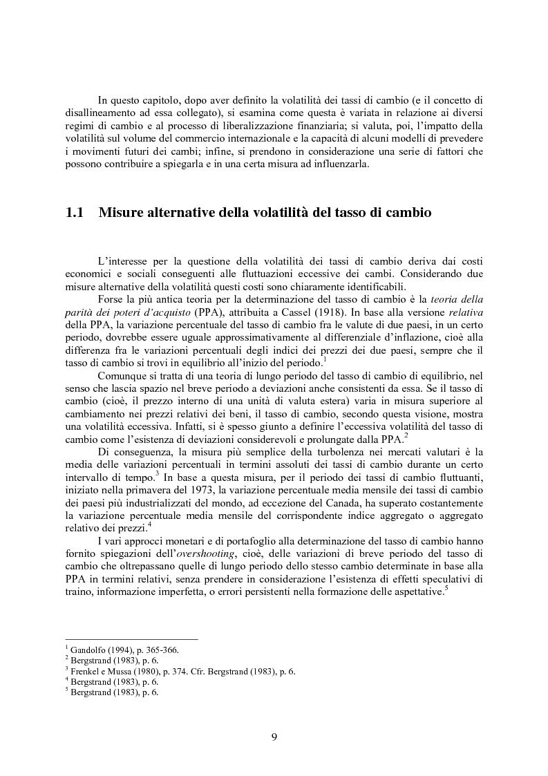 Anteprima della tesi: Volatilità dei tassi di cambio e regolamentazione dei movimenti internazionali di capitali, Pagina 4