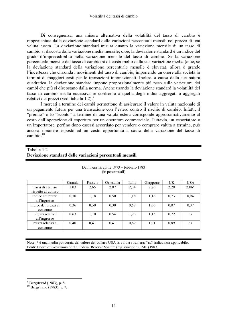 Anteprima della tesi: Volatilità dei tassi di cambio e regolamentazione dei movimenti internazionali di capitali, Pagina 6