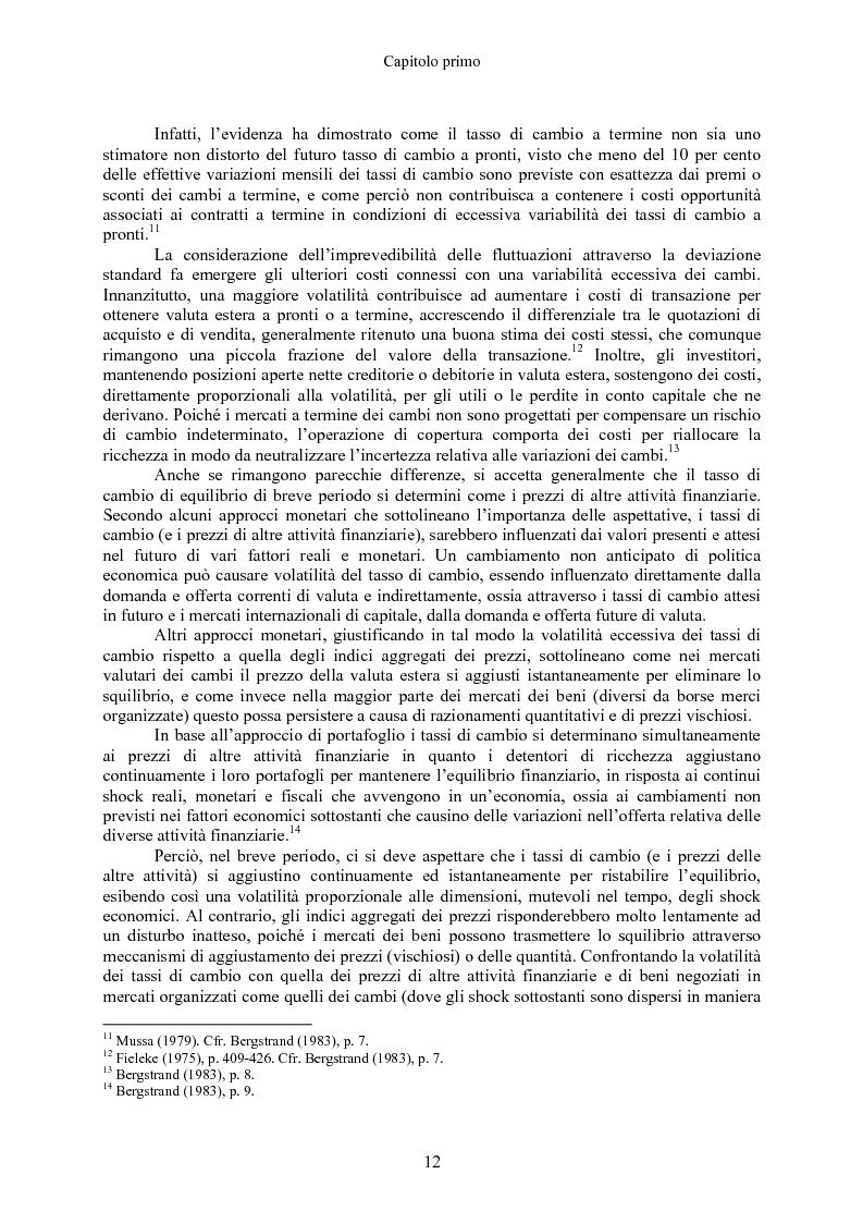 Anteprima della tesi: Volatilità dei tassi di cambio e regolamentazione dei movimenti internazionali di capitali, Pagina 7