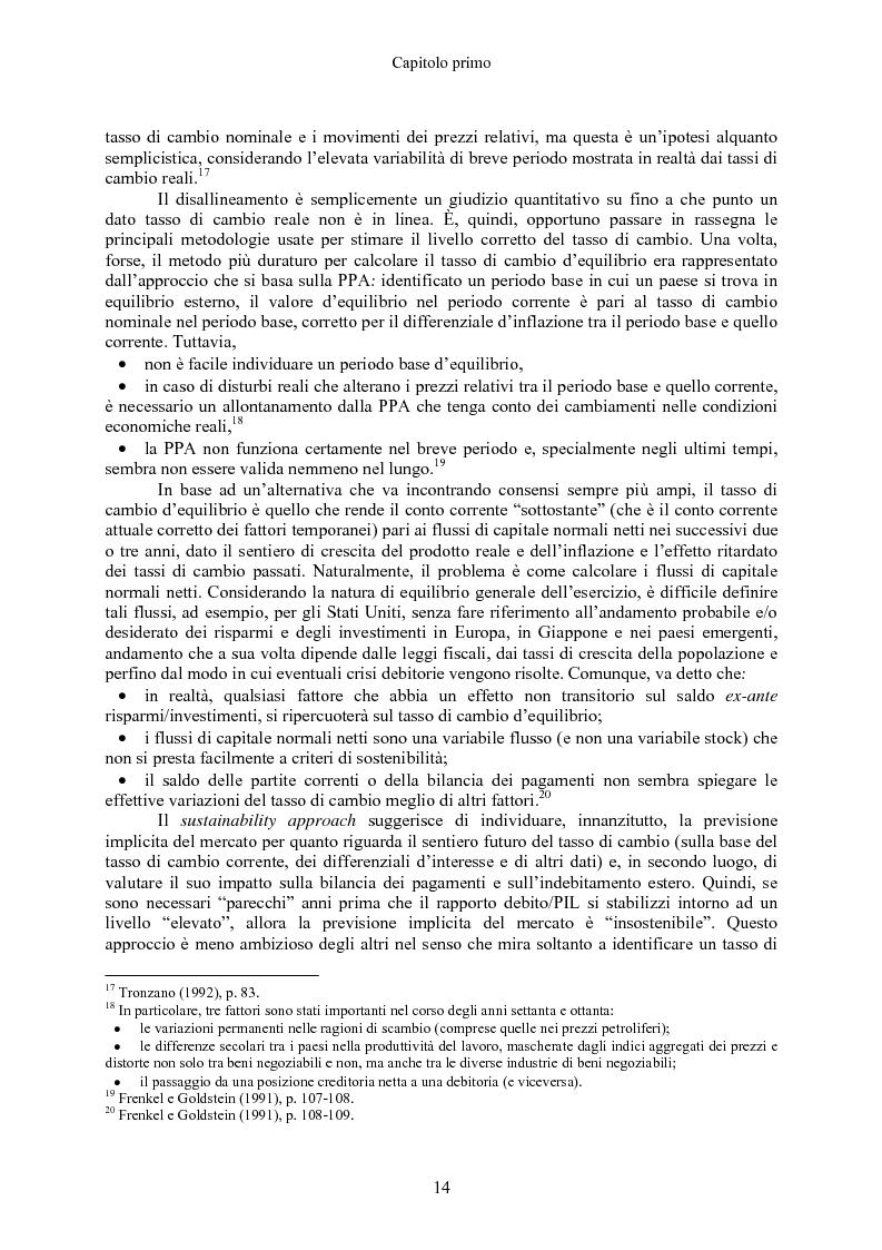 Anteprima della tesi: Volatilità dei tassi di cambio e regolamentazione dei movimenti internazionali di capitali, Pagina 9