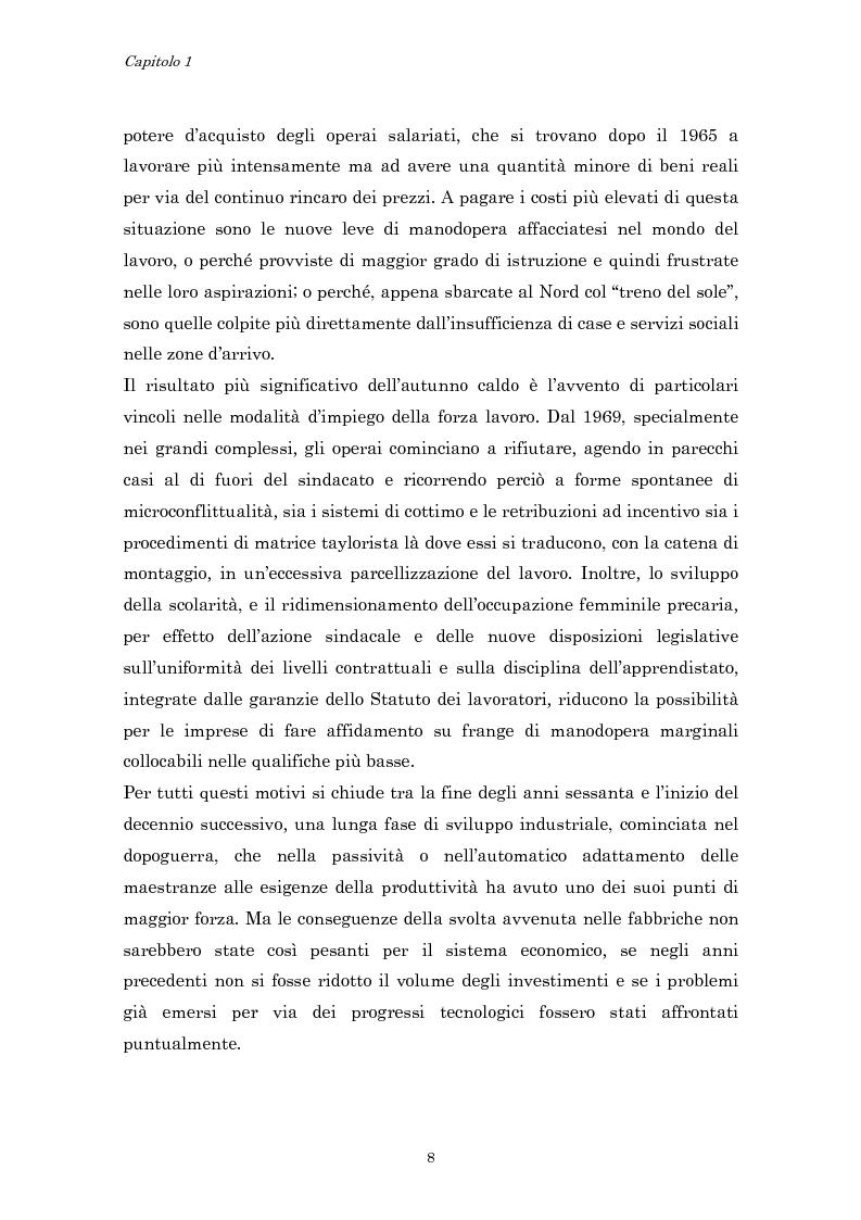 Anteprima della tesi: Crisi economica, strategie aziendali e comunicative: il caso Barilla (1973-1985), Pagina 11