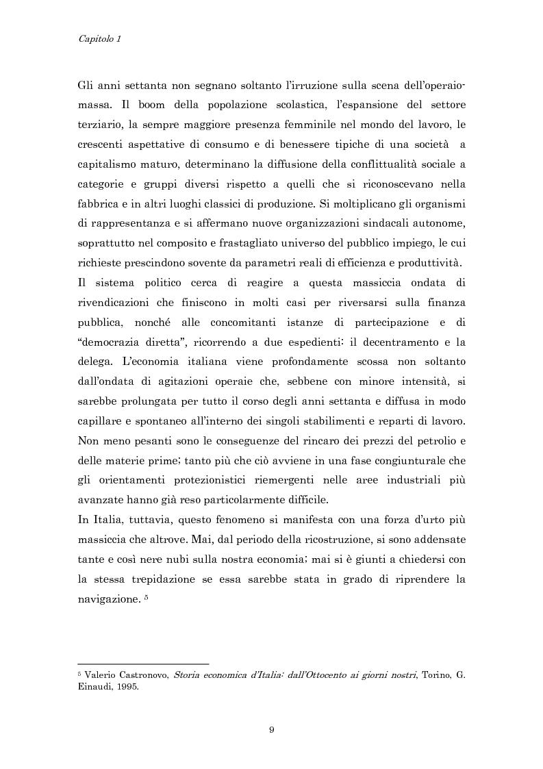 Anteprima della tesi: Crisi economica, strategie aziendali e comunicative: il caso Barilla (1973-1985), Pagina 12