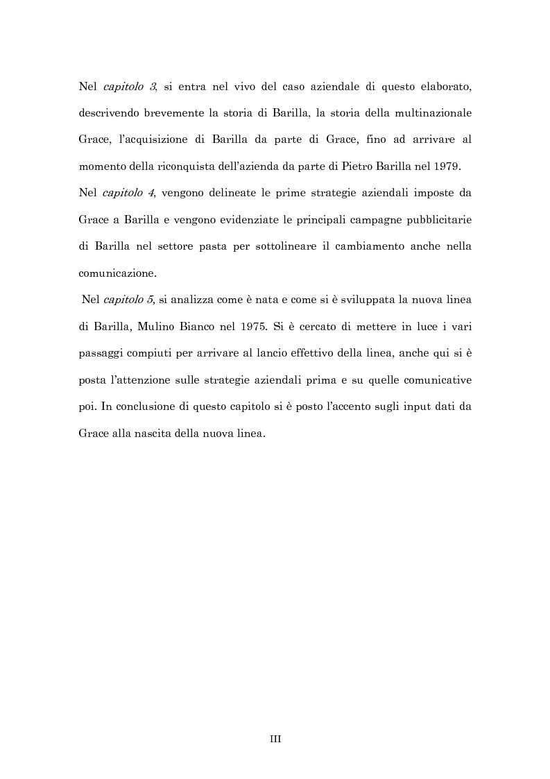 Anteprima della tesi: Crisi economica, strategie aziendali e comunicative: il caso Barilla (1973-1985), Pagina 3
