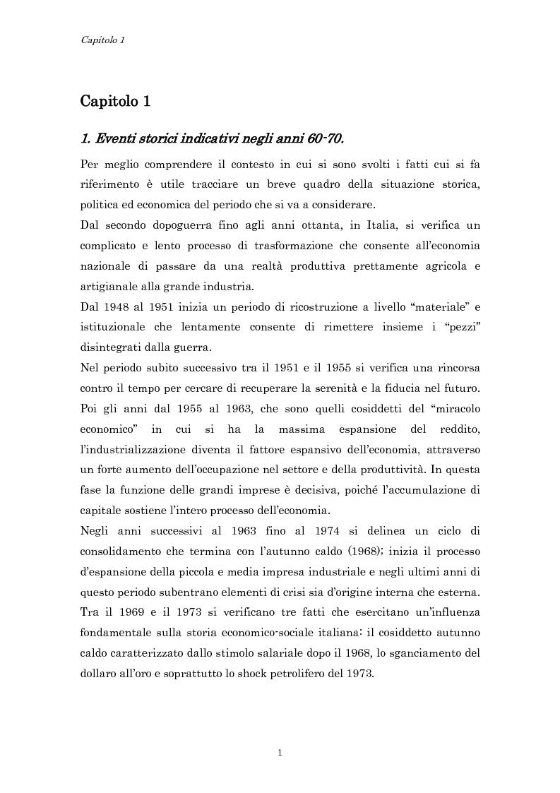 Anteprima della tesi: Crisi economica, strategie aziendali e comunicative: il caso Barilla (1973-1985), Pagina 4