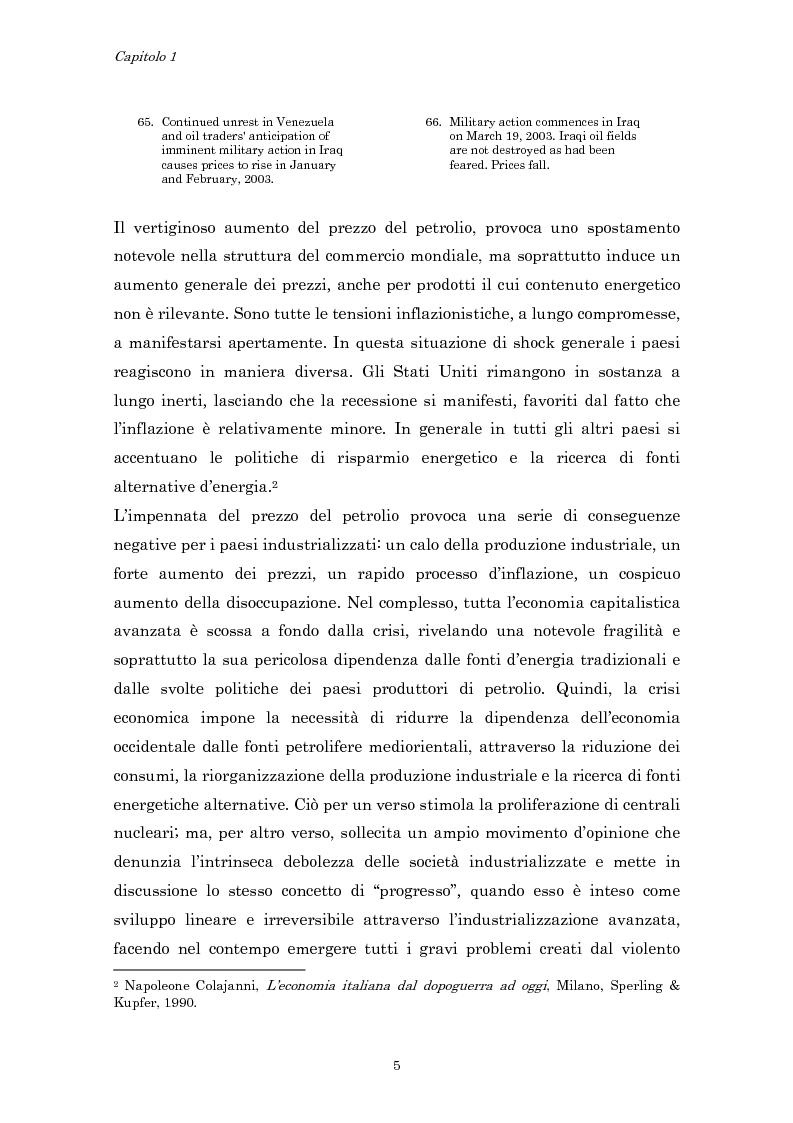 Anteprima della tesi: Crisi economica, strategie aziendali e comunicative: il caso Barilla (1973-1985), Pagina 8