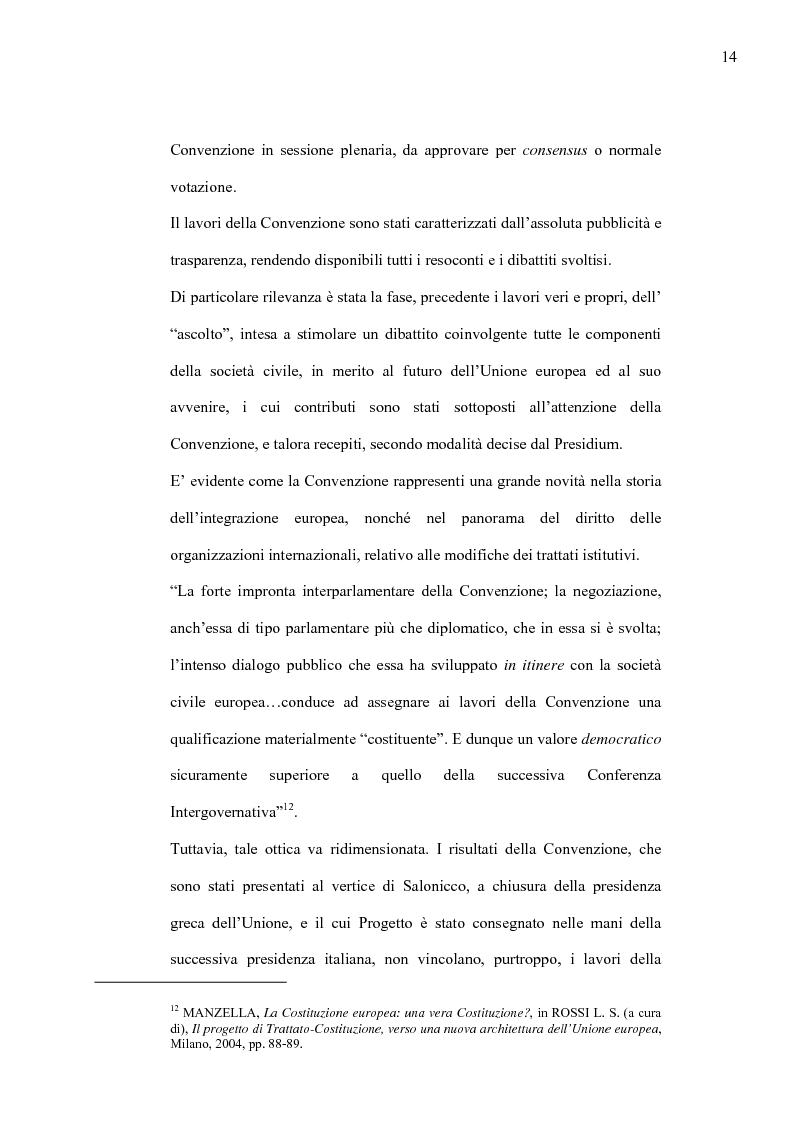 Anteprima della tesi: La Costituzione Europea tra Diritto Internazionale e Potere Costituente, Pagina 10