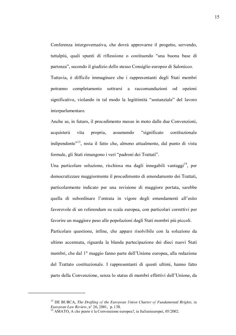 Anteprima della tesi: La Costituzione Europea tra Diritto Internazionale e Potere Costituente, Pagina 11