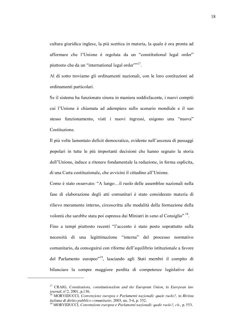 Anteprima della tesi: La Costituzione Europea tra Diritto Internazionale e Potere Costituente, Pagina 14