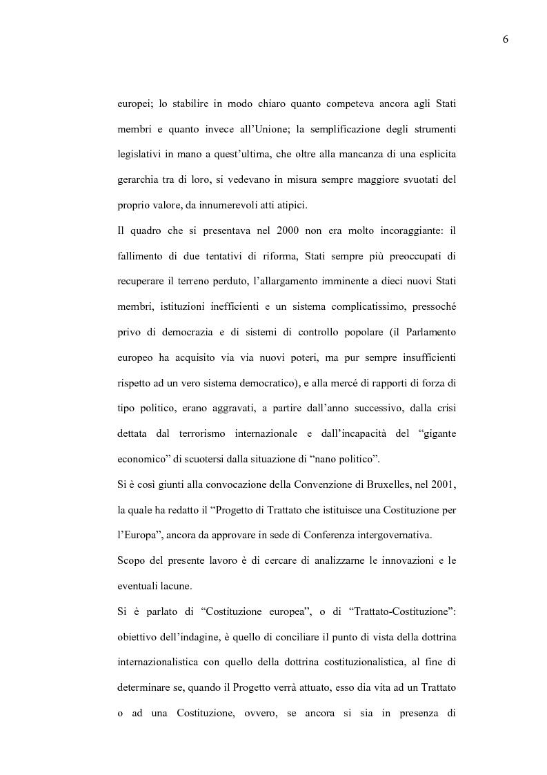 Anteprima della tesi: La Costituzione Europea tra Diritto Internazionale e Potere Costituente, Pagina 2