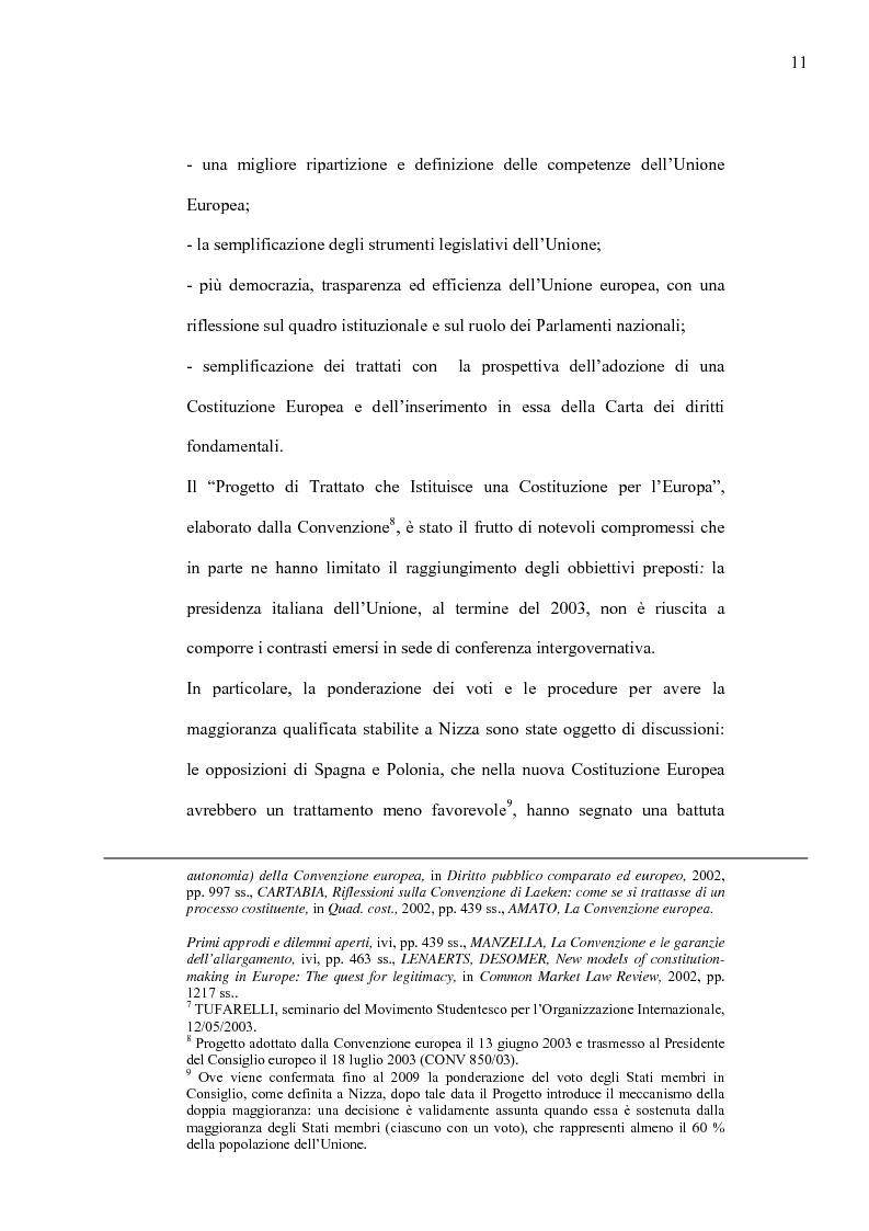 Anteprima della tesi: La Costituzione Europea tra Diritto Internazionale e Potere Costituente, Pagina 7