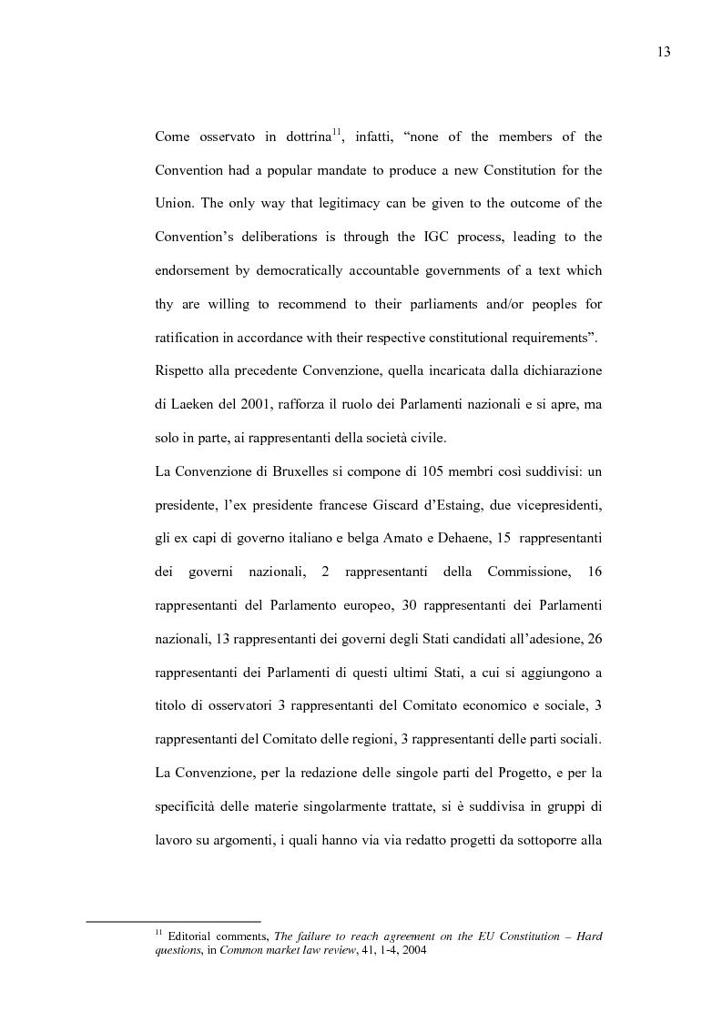 Anteprima della tesi: La Costituzione Europea tra Diritto Internazionale e Potere Costituente, Pagina 9