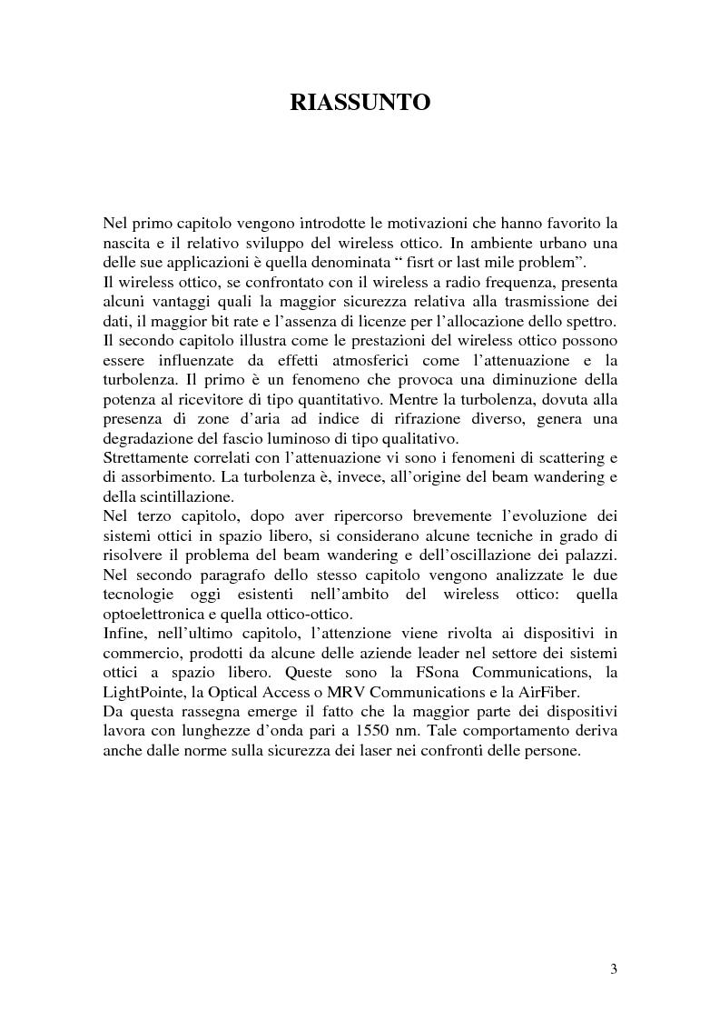 Anteprima della tesi: Apparati per Wireless Ottico, Pagina 3