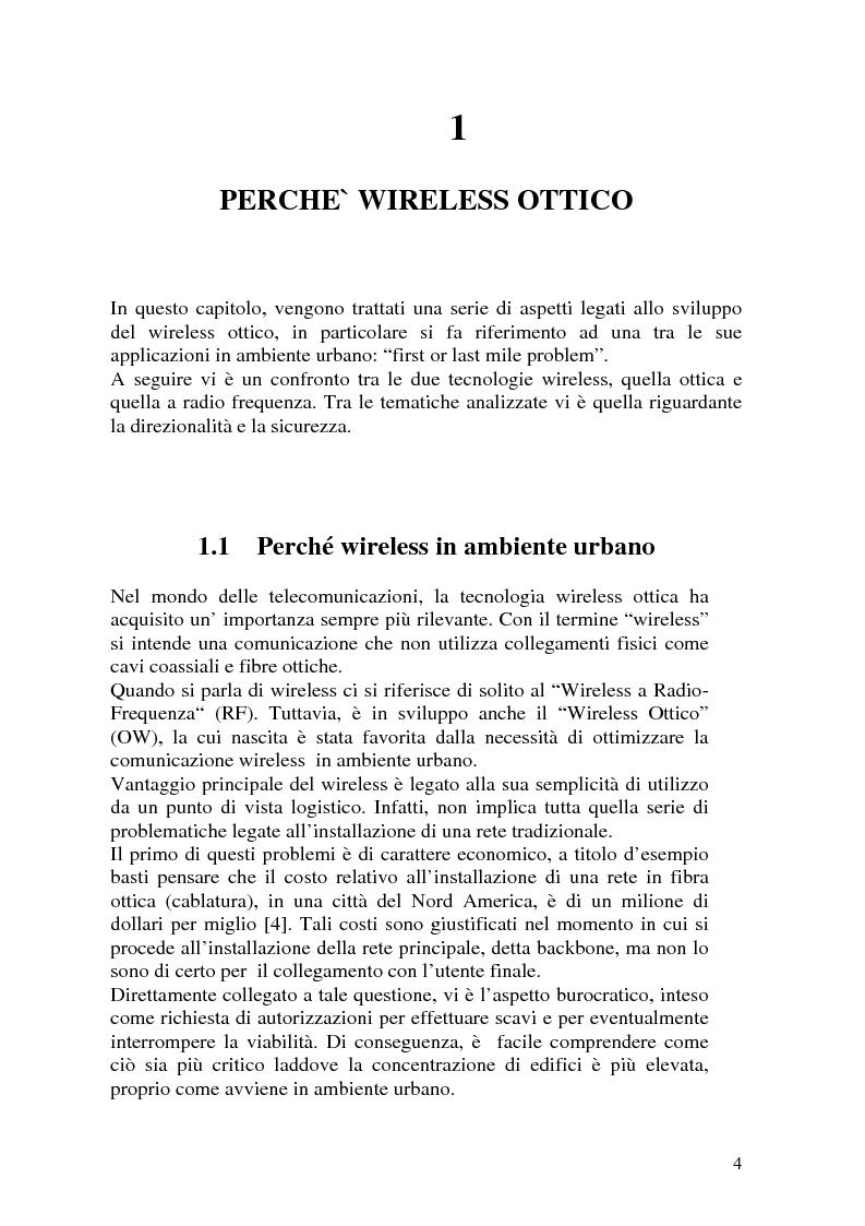 Anteprima della tesi: Apparati per Wireless Ottico, Pagina 4