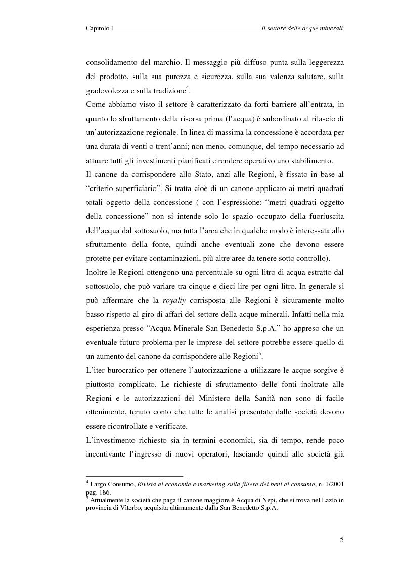 Anteprima della tesi: Creazione di Valore nel Settore delle Acque Minerali: il caso San Benedetto S.P.A., Pagina 10