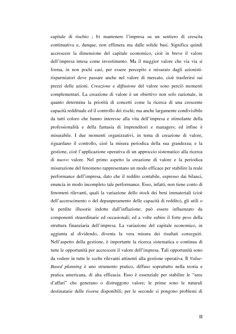 Anteprima della tesi: Creazione di Valore nel Settore delle Acque Minerali: il caso San Benedetto S.P.A., Pagina 2