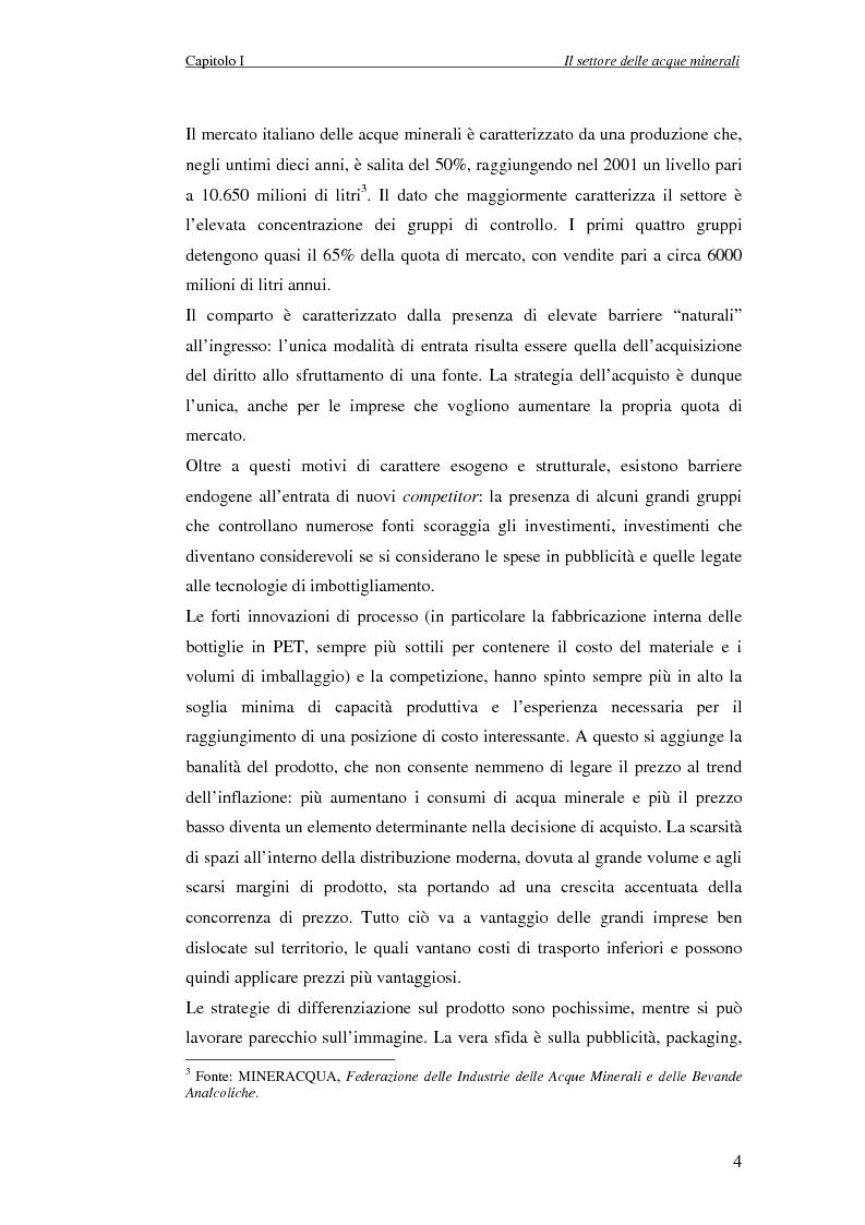 Anteprima della tesi: Creazione di Valore nel Settore delle Acque Minerali: il caso San Benedetto S.P.A., Pagina 9
