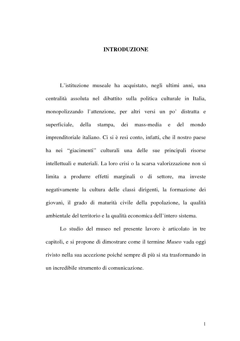 Anteprima della tesi: Il museo come spazio di comunicazione: El Museo Nacional Centro de Arte Reina Sofia di Madrid, Pagina 1