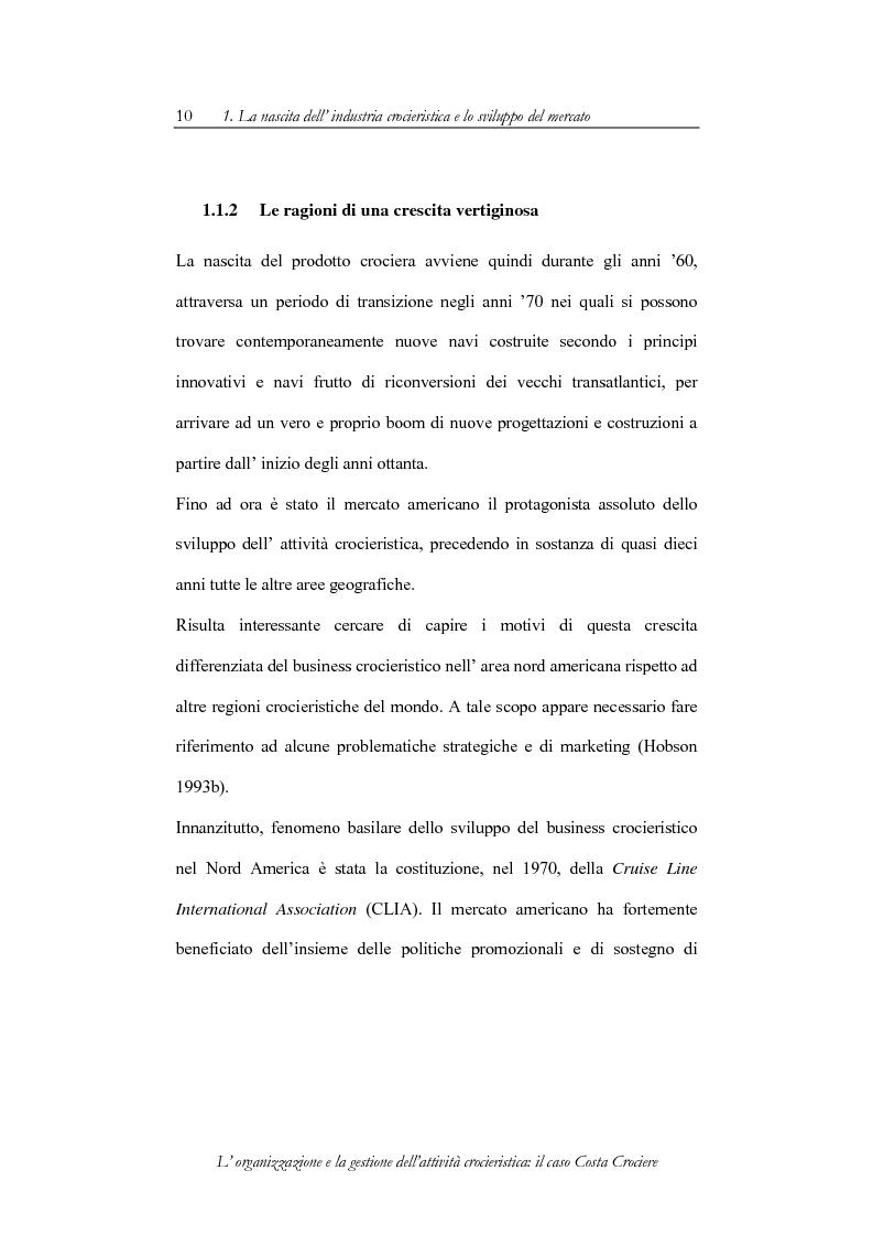 Anteprima della tesi: L'organizzazione e la gestione dell'attività crocieristica: il caso Costa Crociere, Pagina 10