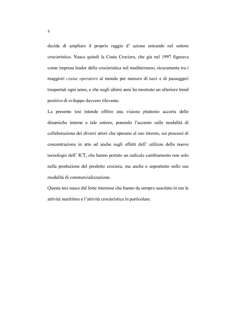 Anteprima della tesi: L'organizzazione e la gestione dell'attività crocieristica: il caso Costa Crociere, Pagina 4