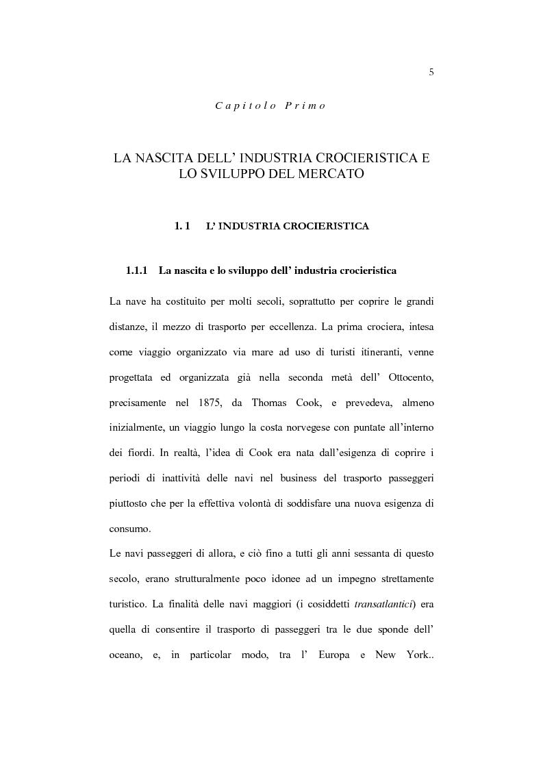 Anteprima della tesi: L'organizzazione e la gestione dell'attività crocieristica: il caso Costa Crociere, Pagina 5