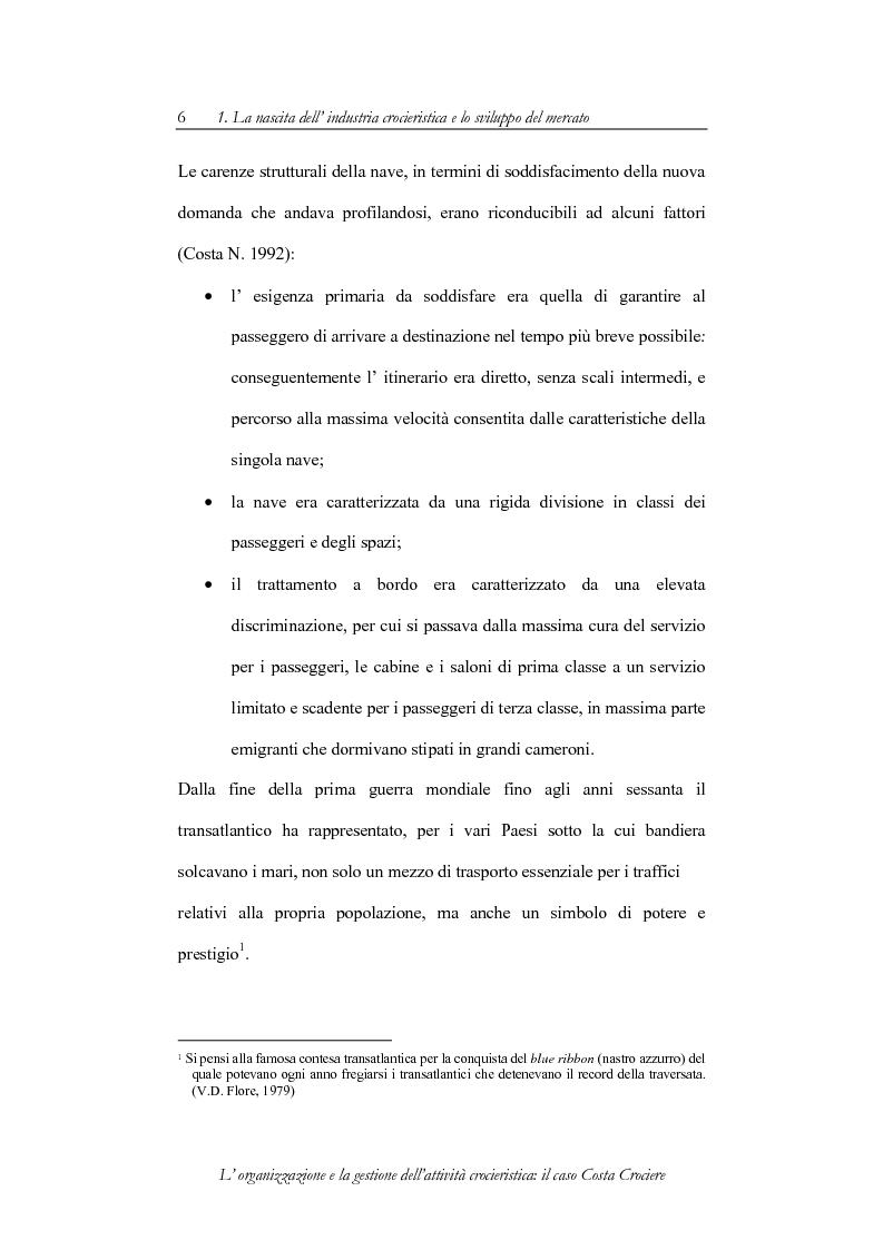 Anteprima della tesi: L'organizzazione e la gestione dell'attività crocieristica: il caso Costa Crociere, Pagina 6