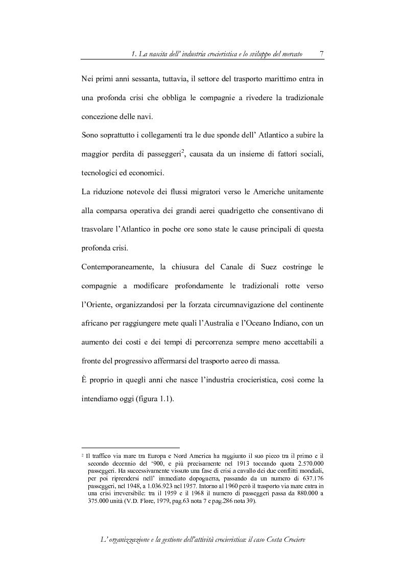 Anteprima della tesi: L'organizzazione e la gestione dell'attività crocieristica: il caso Costa Crociere, Pagina 7