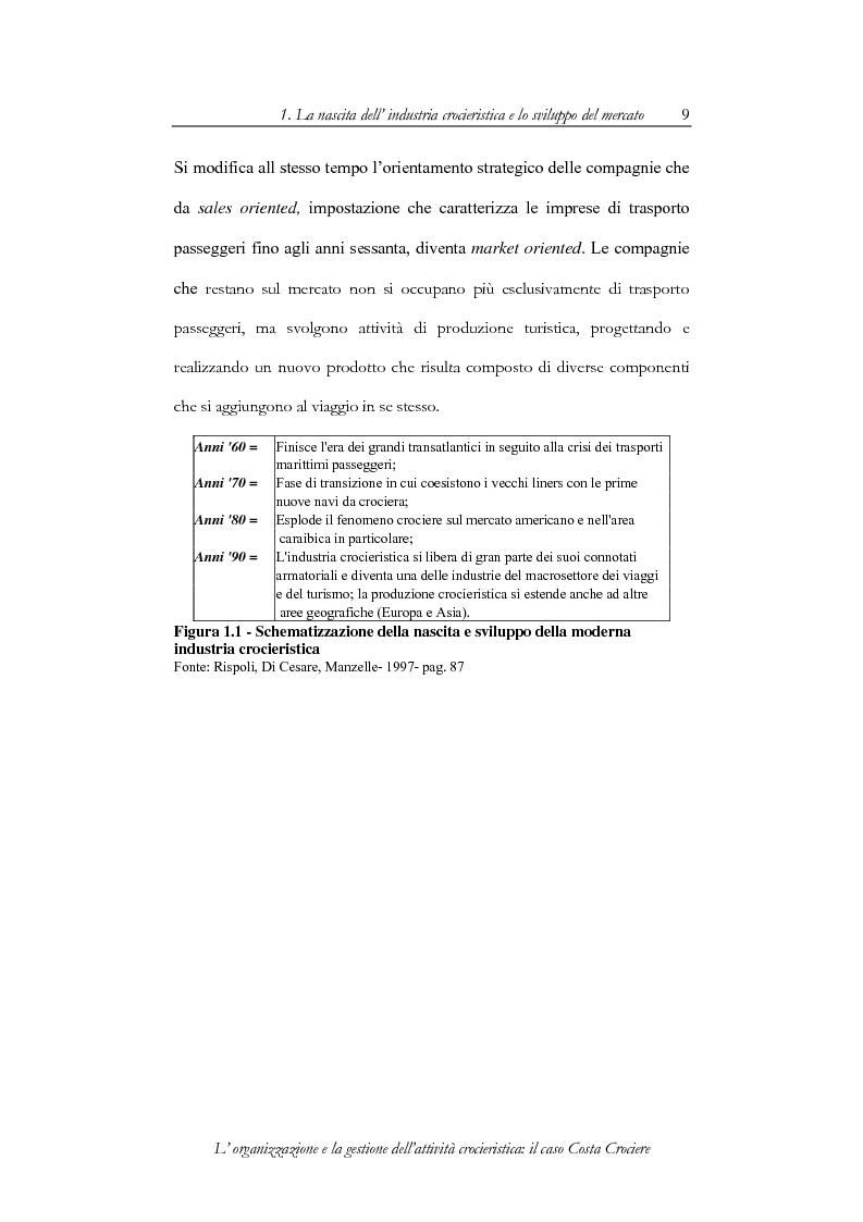 Anteprima della tesi: L'organizzazione e la gestione dell'attività crocieristica: il caso Costa Crociere, Pagina 9
