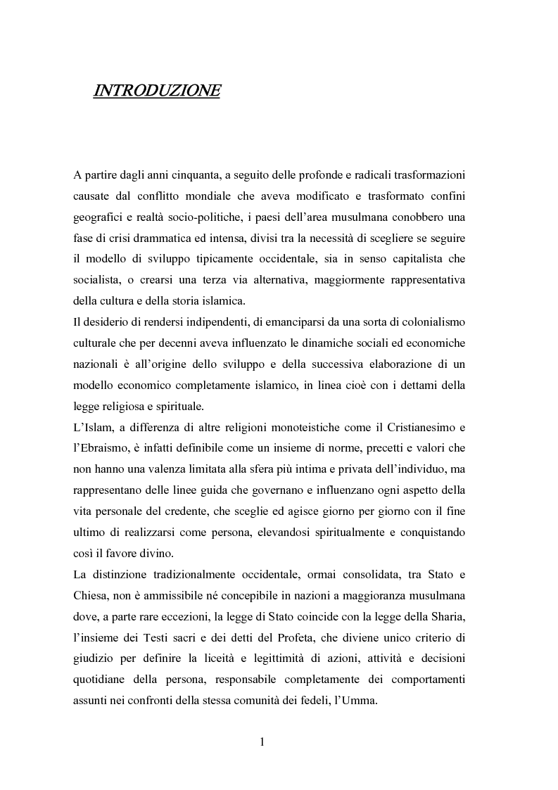 Anteprima della tesi: Il modello economico islamico Aspetti socio-economici ed etici, Pagina 1