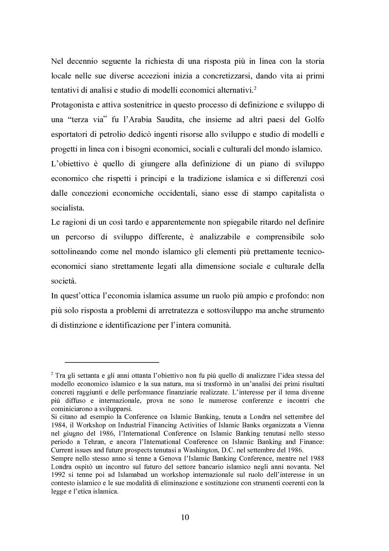 Anteprima della tesi: Il modello economico islamico Aspetti socio-economici ed etici, Pagina 10