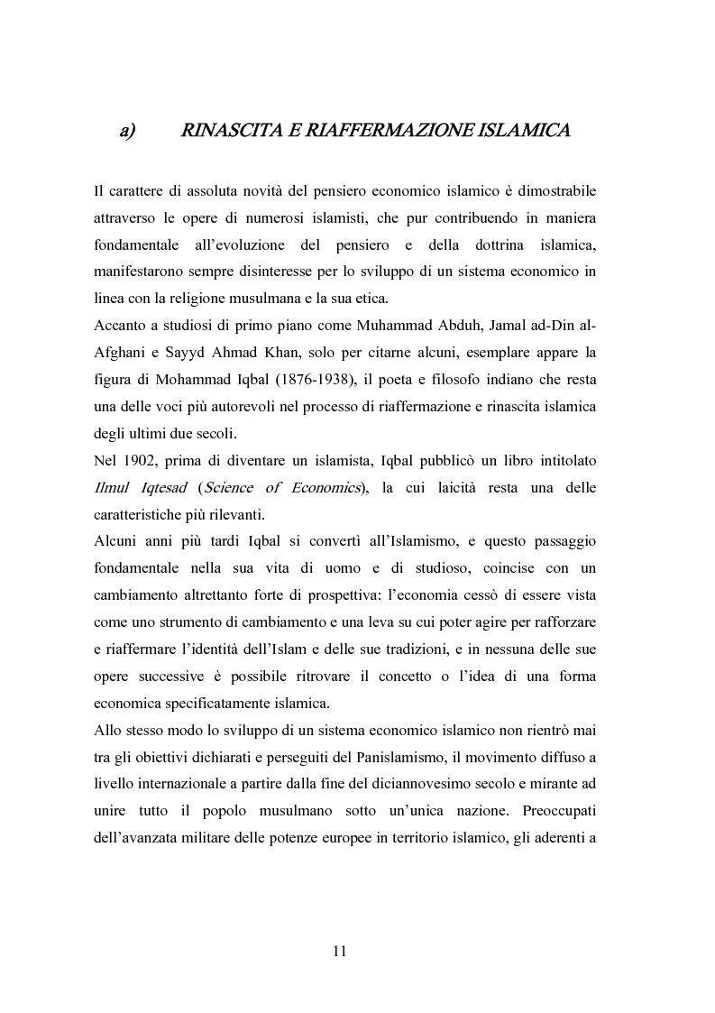 Anteprima della tesi: Il modello economico islamico Aspetti socio-economici ed etici, Pagina 11