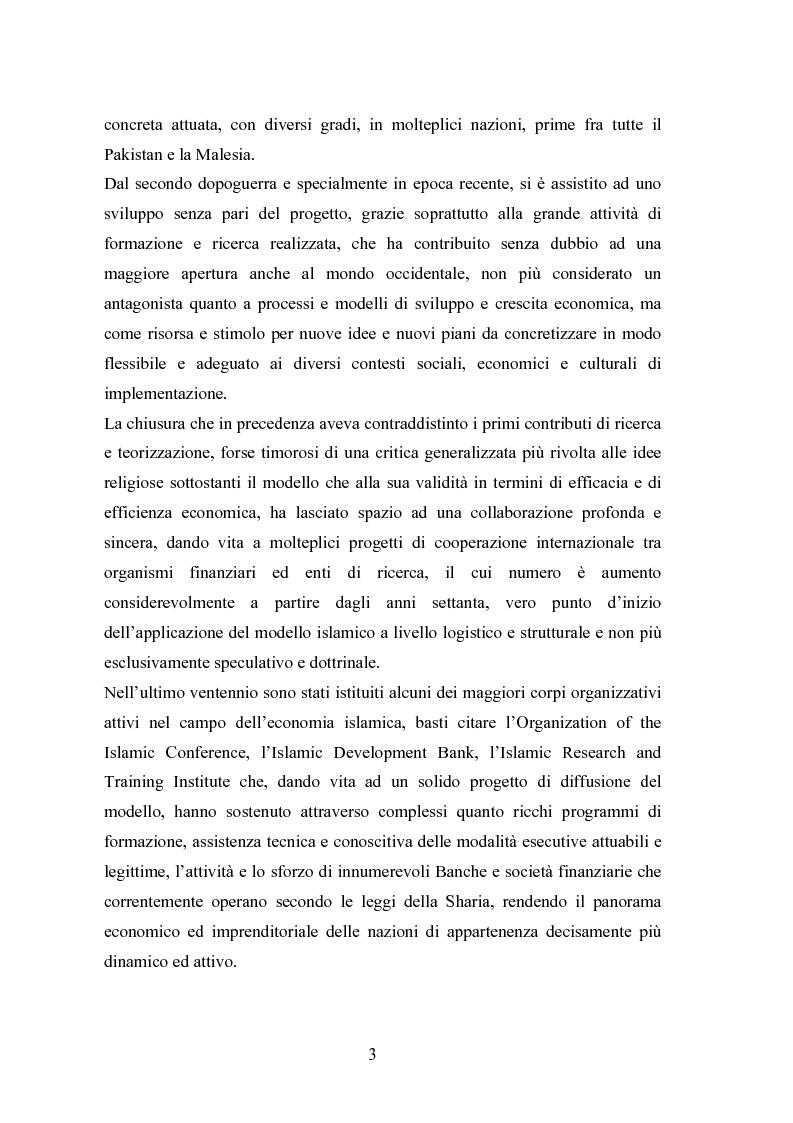 Anteprima della tesi: Il modello economico islamico Aspetti socio-economici ed etici, Pagina 3