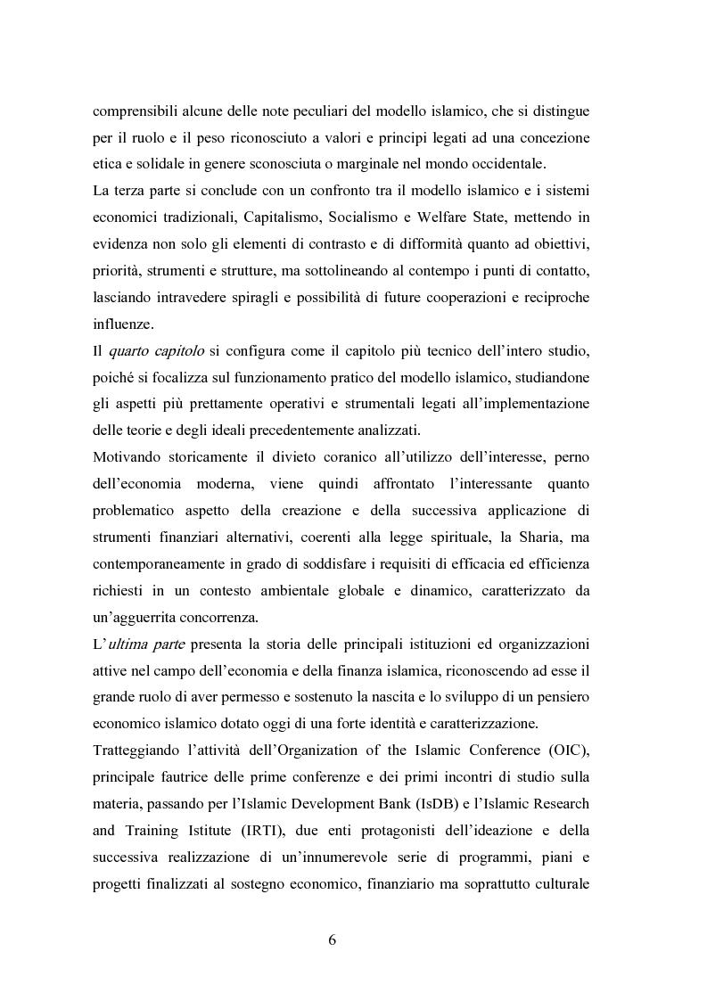 Anteprima della tesi: Il modello economico islamico Aspetti socio-economici ed etici, Pagina 6