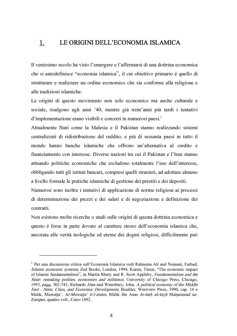 Anteprima della tesi: Il modello economico islamico Aspetti socio-economici ed etici, Pagina 8