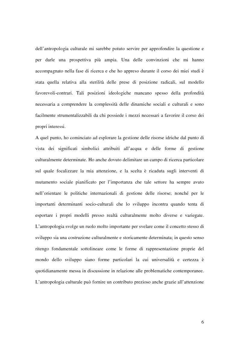 Anteprima della tesi: L'acqua tra pratiche discorsive e realtà: le dimensioni sociali, culturali e simboliche nella gestione delle risorse idriche, Pagina 2