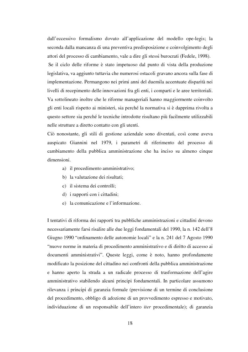 Anteprima della tesi: Semplificazione e partecipazione nella pubblica amministrazione. L'esperienza della A.S.L. di Cremona, Pagina 14