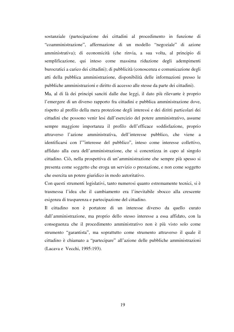 Anteprima della tesi: Semplificazione e partecipazione nella pubblica amministrazione. L'esperienza della A.S.L. di Cremona, Pagina 15