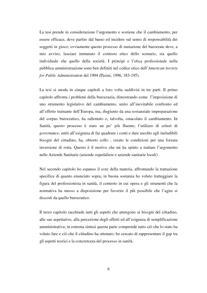 Anteprima della tesi: Semplificazione e partecipazione nella pubblica amministrazione. L'esperienza della A.S.L. di Cremona, Pagina 2