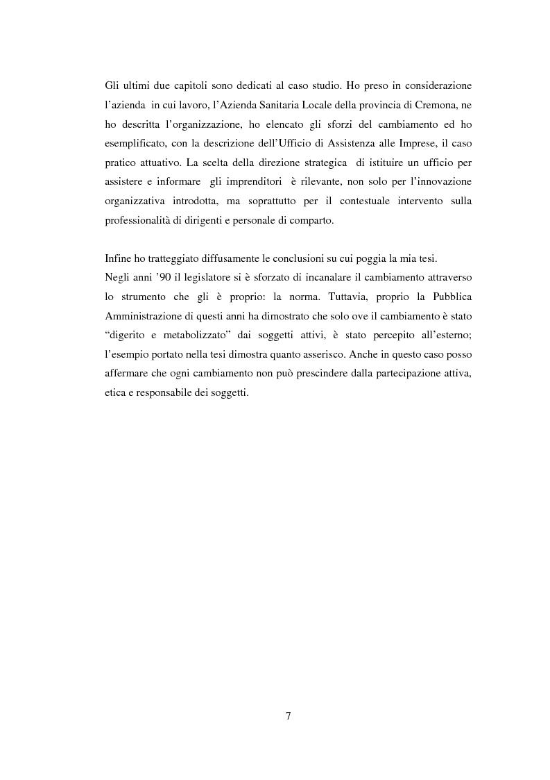 Anteprima della tesi: Semplificazione e partecipazione nella pubblica amministrazione. L'esperienza della A.S.L. di Cremona, Pagina 3